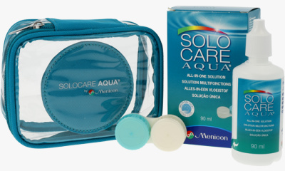 Produit Lentille Flight Pack SOLO-CARE TRAVEL KIT SOLOCARE AQUA - TRAVEL KIT