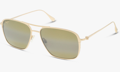 Lunettes de soleil Maui Jim Dom Tom 541 Beaches 16A Satin gold #HCL