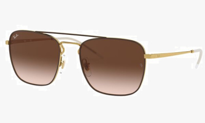 Lunettes de soleil Ray Ban RB3588 905513 GOLD TOP ON BROWN