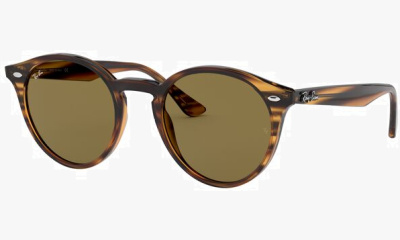 Lunettes de soleil Ray Ban RB2180 820/73 STRIPPED RED HAVANA