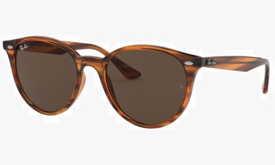 Lunettes de soleil Ray Ban RB4305 820/73 STRIPPED RED HAVANA