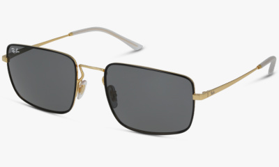 Lunettes de soleil Ray-Ban RB3669 905487 SHINY GOLD ON TOP BLACK