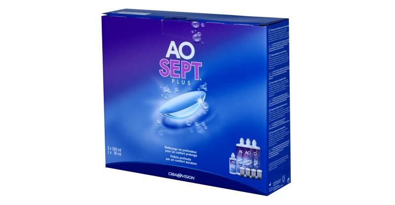 Produit Lentille AOSEPT Aosept Plus - Pack 3X360Ml