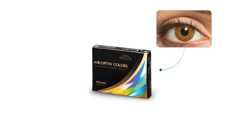 Lentilles de contact Air Optix Air Optix Colors AMBRE