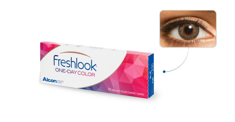 Lentilles de contact Freshlook Freshlook 1 Day GRIS PERLE