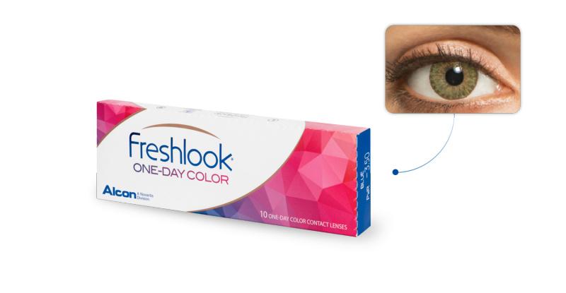 Lentilles de contact Freshlook Freshlook 1 Day VERT AMANDE