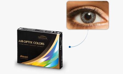 Lentilles de contact Air Optix Air Optix Colors GRIS ETINCELANT