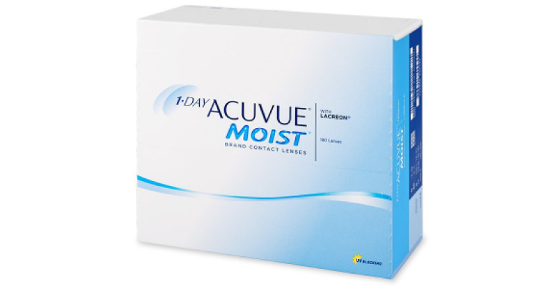 Lentilles de contact  1 Day Acuvue Moist