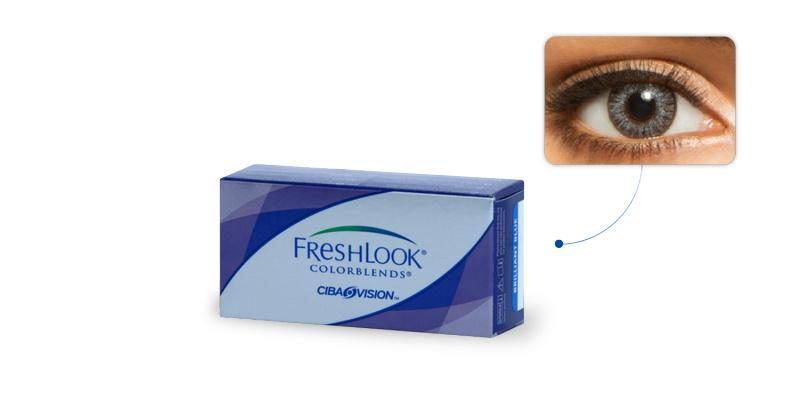 Lentilles de contact Freshlook Freshlook Colorblends GRIS ETINCELANT