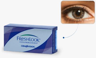 Lentilles de contact Freshlook Freshlook Colorblends GRIS PERLE