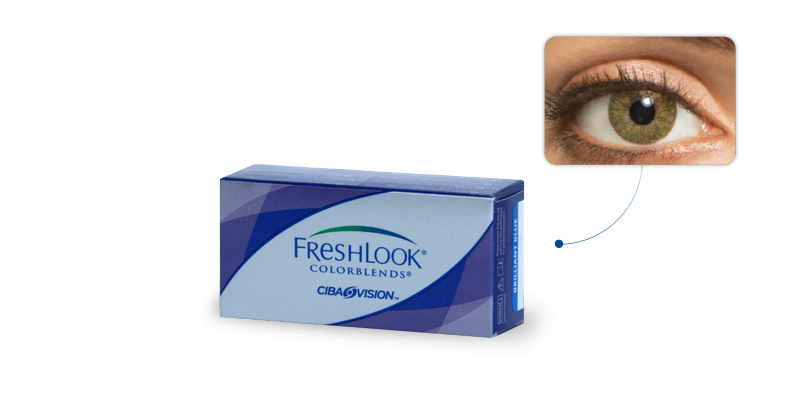 Lentilles de contact Freshlook Freshlook Colorblends VERT AMANDE