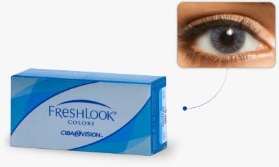 Lentilles de contact Freshlook Freshlook Colors BLEU CIEL