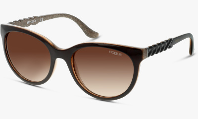 Lunettes de soleil Vogue 2915S 225913 TOP BROWN/GLITTER BROWN