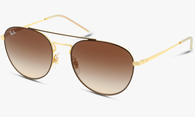 Lunettes de soleil Ray Ban New & 0RB3589 905513 GOLD TOP ON BROWN