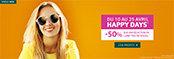 Happy Days -50% Lunettes de soleil