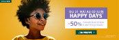 -50% sur une sélection de lunettes de soleil*