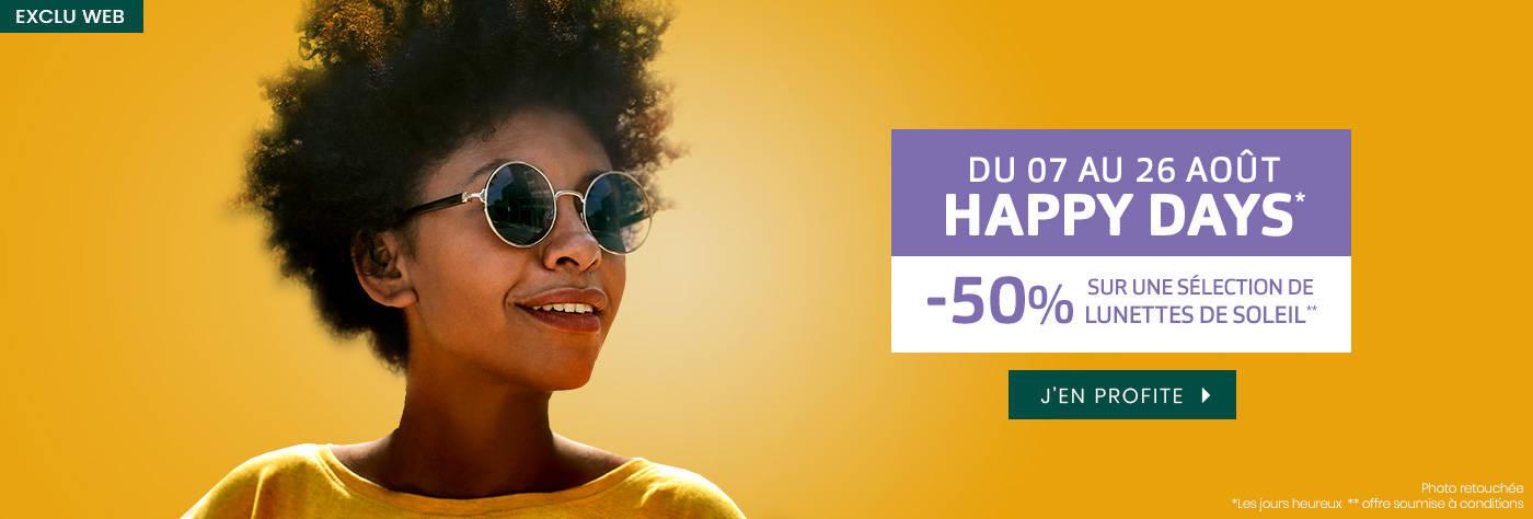 -50% sur une sélection de <br>lunettes de soleil*