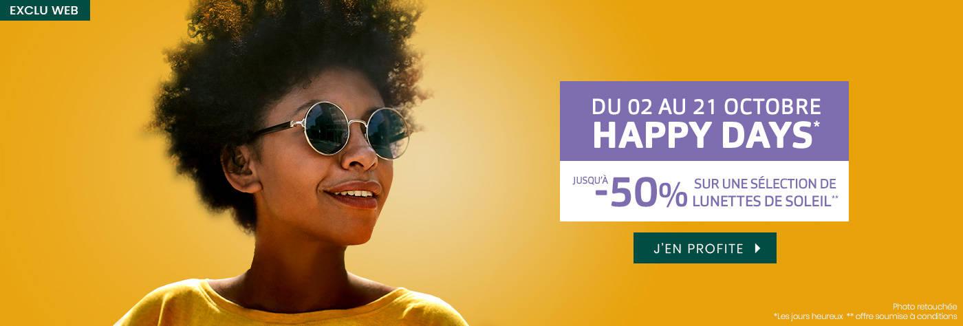 Jusqu'à -50% sur une sélection de lunettes de soleil
